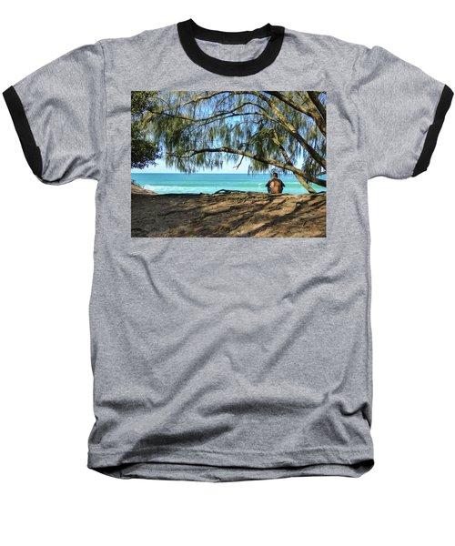 Man Relaxing At The Beach Baseball T-Shirt