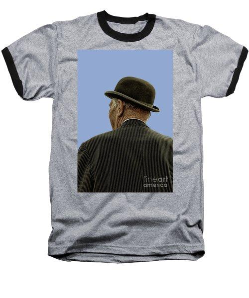 Man With A Bowler Hat Baseball T-Shirt