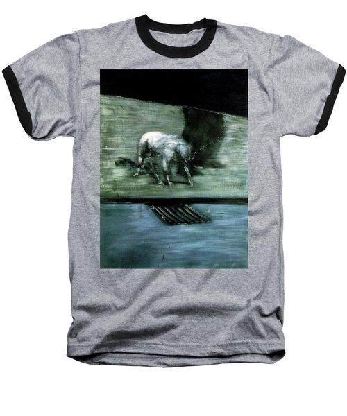 Man With Dog  Baseball T-Shirt