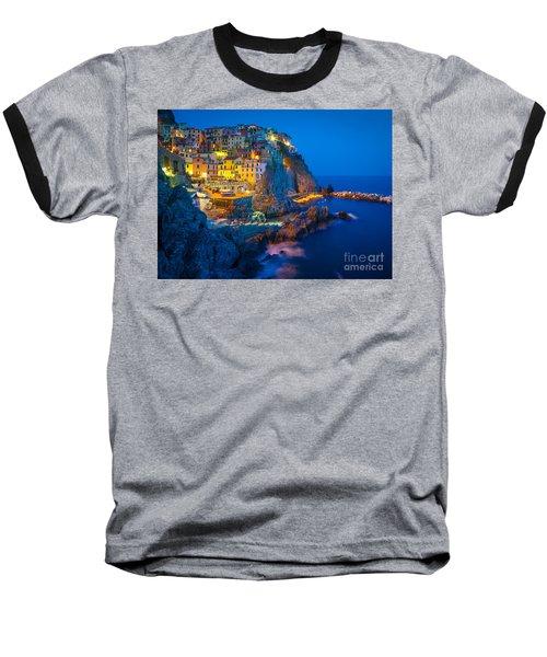 Manarola By Night Baseball T-Shirt