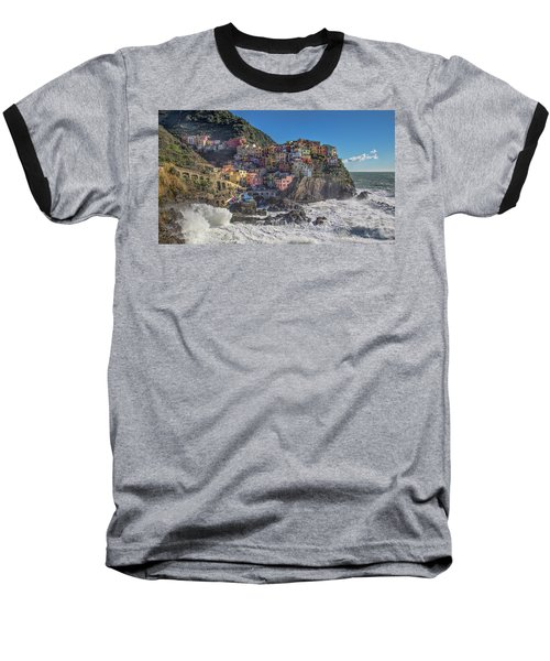 Manarola In Cinque Terre  Baseball T-Shirt