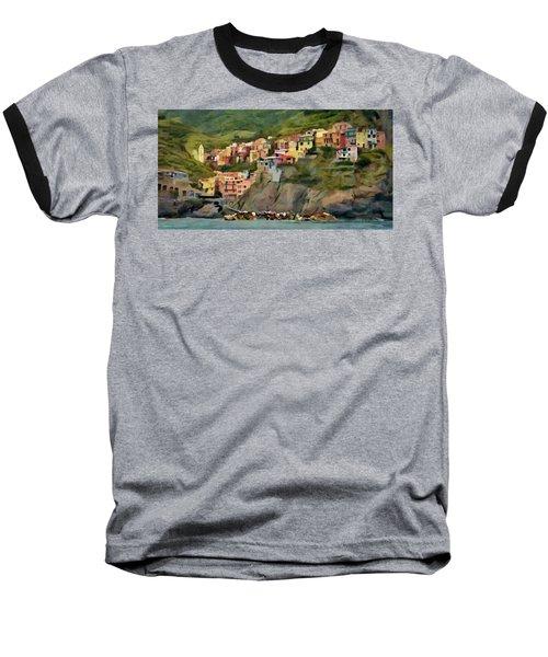 Baseball T-Shirt featuring the painting Manarola by Jeff Kolker