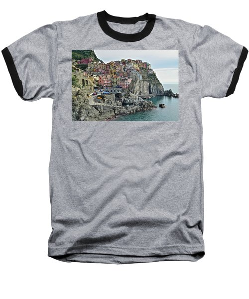 Baseball T-Shirt featuring the photograph Manarola Version Three by Frozen in Time Fine Art Photography