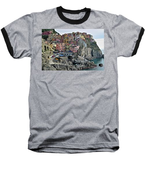 Baseball T-Shirt featuring the photograph Manarola Version Two by Frozen in Time Fine Art Photography