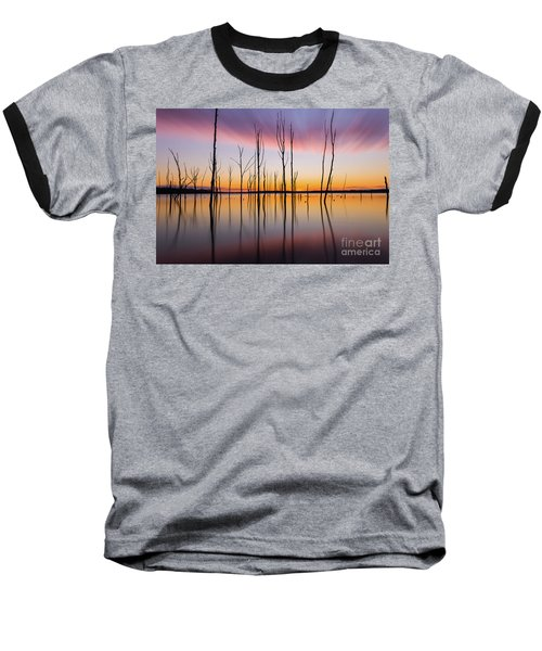 Manasquan Reservoir Long Exposure Baseball T-Shirt