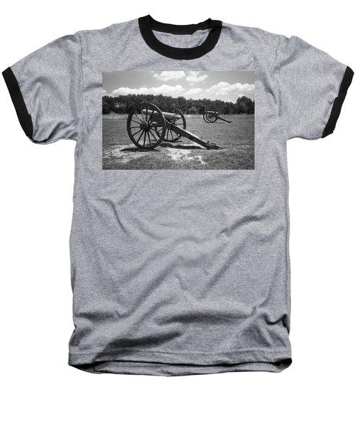 Baseball T-Shirt featuring the photograph Manassas Battlefield 2 Bw by Frank Romeo