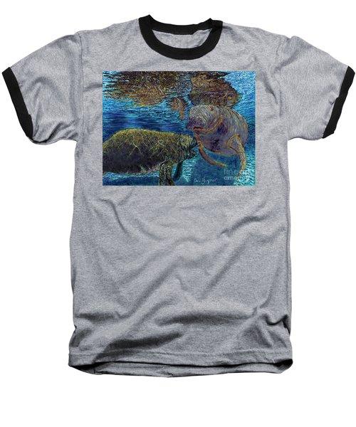 Manatee Motherhood Baseball T-Shirt