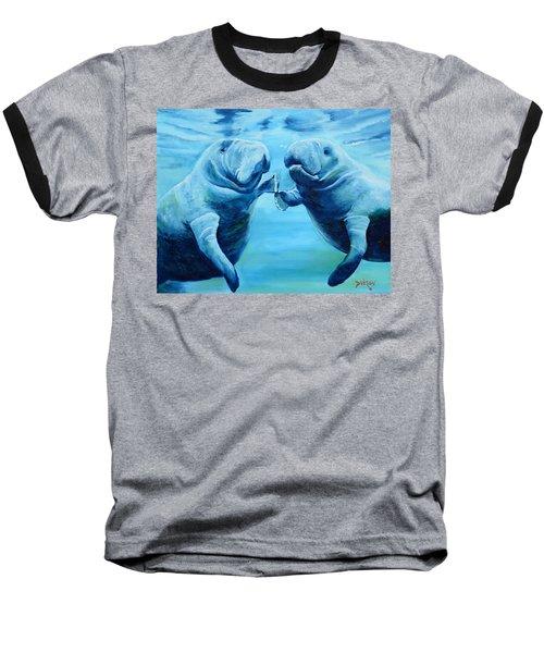 Manatees Socializing Baseball T-Shirt