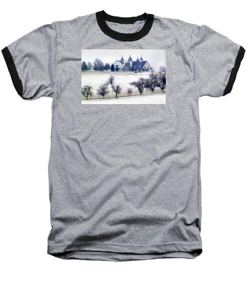 Manchester Farm In Winter Baseball T-Shirt