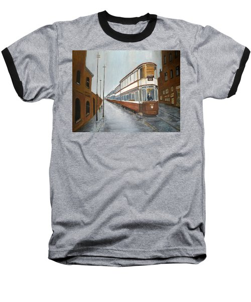 Manchester Piccadilly Tram Baseball T-Shirt