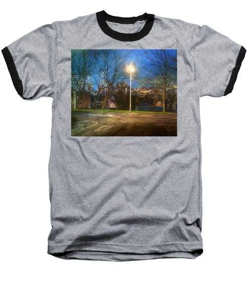 Manchester Street With Light And Trees Baseball T-Shirt