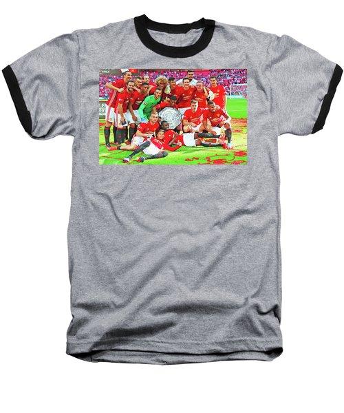 Manchester United Celebrates Baseball T-Shirt by Don Kuing