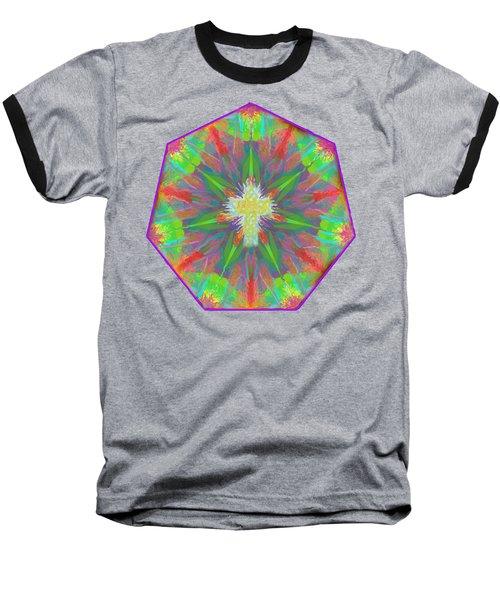 Mandala 1 1 2016 Baseball T-Shirt by Hidden Mountain
