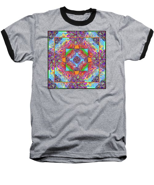 Mandala #1 Baseball T-Shirt by Loko Suederdiek