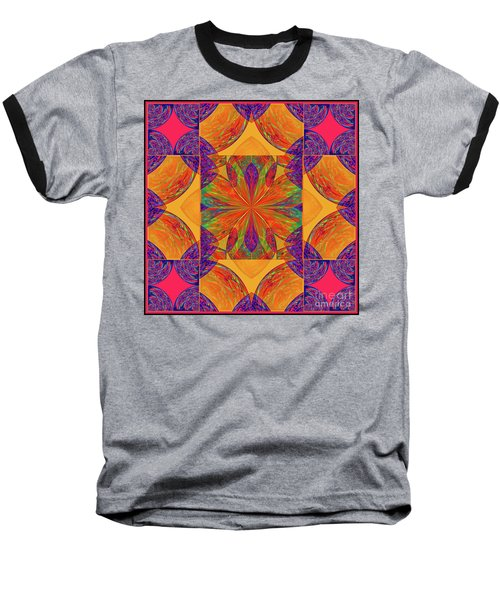 Mandala #2  Baseball T-Shirt by Loko Suederdiek