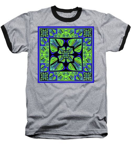 Mandala #22 Baseball T-Shirt by Loko Suederdiek