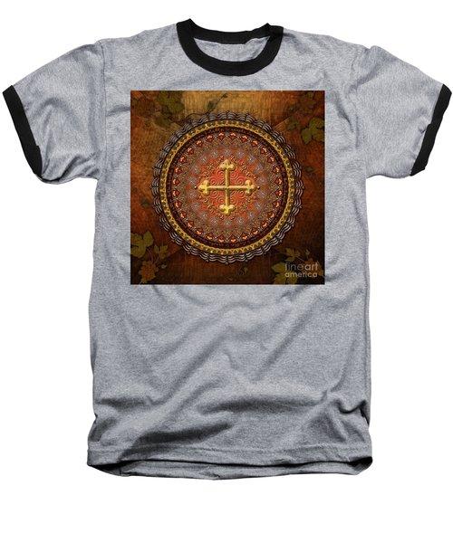 Mandala Armenian Cross Baseball T-Shirt