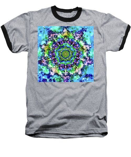 Mandala Art 1 Baseball T-Shirt by Patricia Lintner