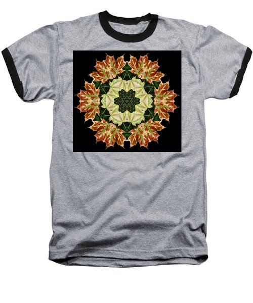 Mandala Autumn Star Baseball T-Shirt