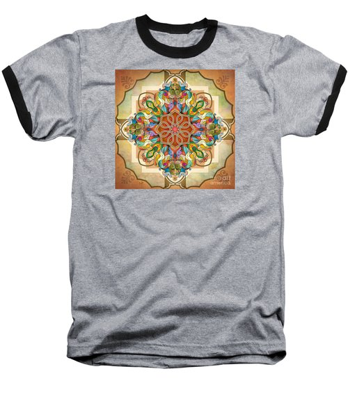 Mandala Birds Baseball T-Shirt