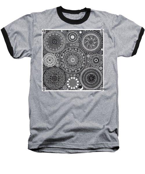 Mandala Bouquet Baseball T-Shirt