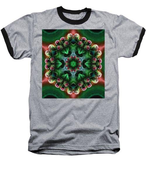 Mandala Bull Thistle Baseball T-Shirt