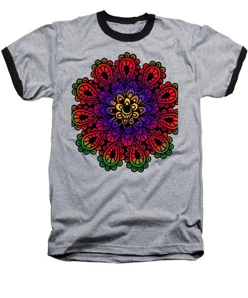 Mandala By Lamplight Baseball T-Shirt