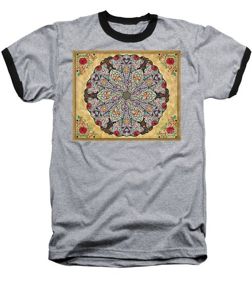 Mandala Elephants Sp Baseball T-Shirt