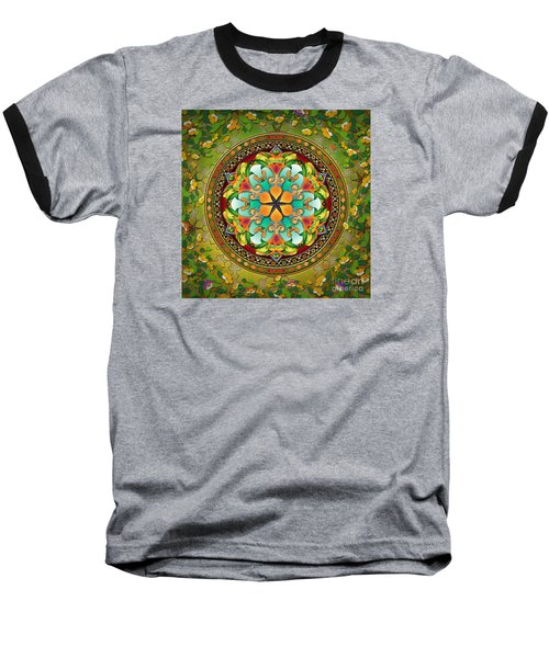 Mandala Evergreen Baseball T-Shirt