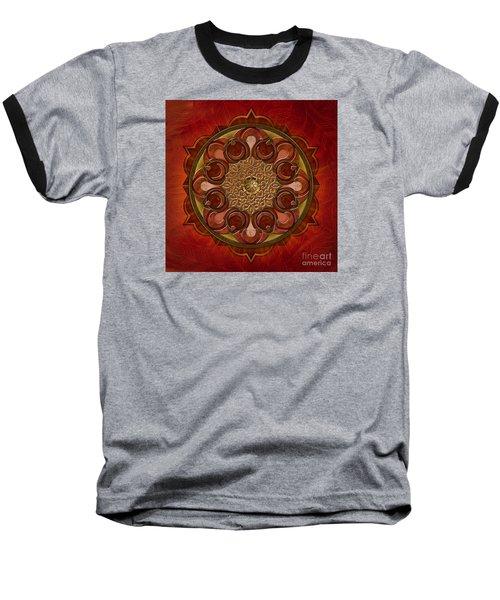 Mandala Flames Baseball T-Shirt