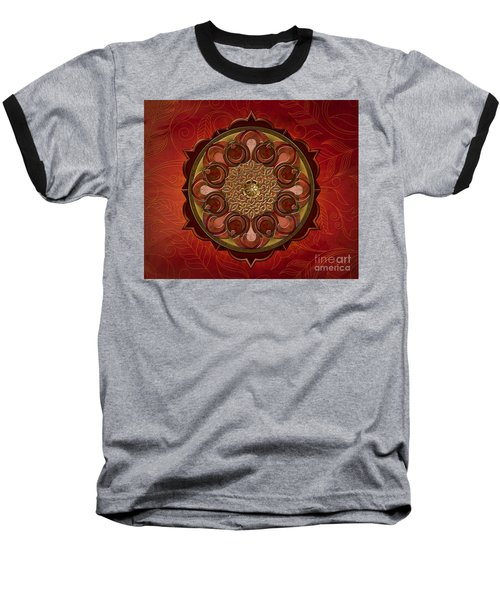 Mandala Flames Sp Baseball T-Shirt