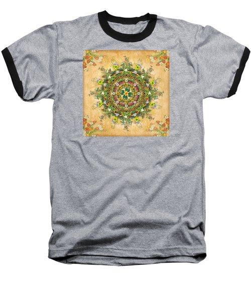 Mandala Flora Baseball T-Shirt