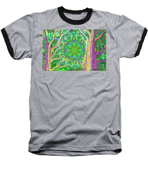Mandala Forest Baseball T-Shirt