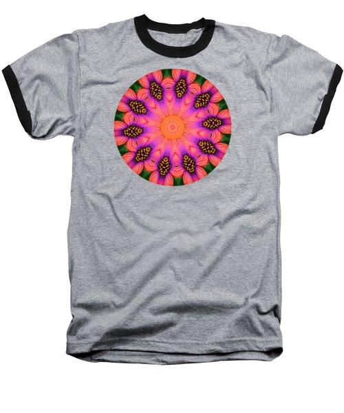 Mandala Salmon Burst Baseball T-Shirt