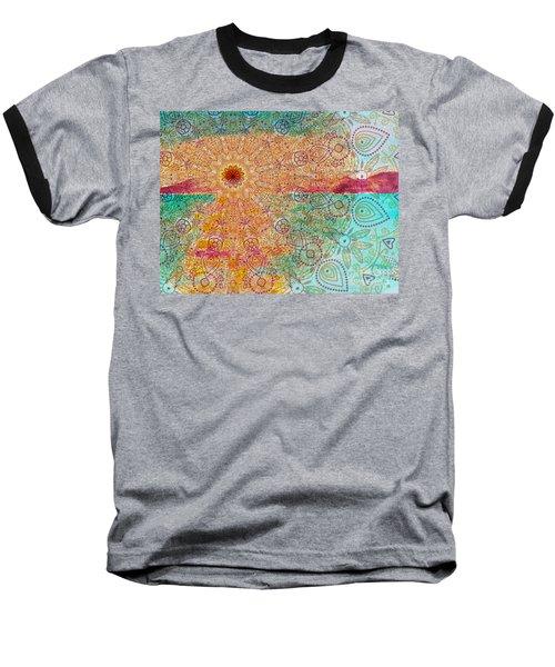 Mandala Sets Over The Dunes Baseball T-Shirt