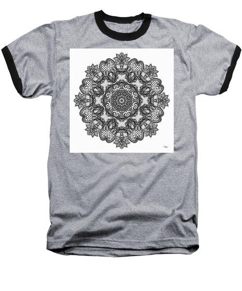 Baseball T-Shirt featuring the digital art Mandala To Color 2 by Mo T