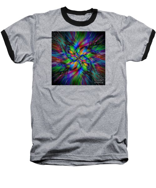 Baseball T-Shirt featuring the photograph Mandala Twirl 01 by Jack Torcello