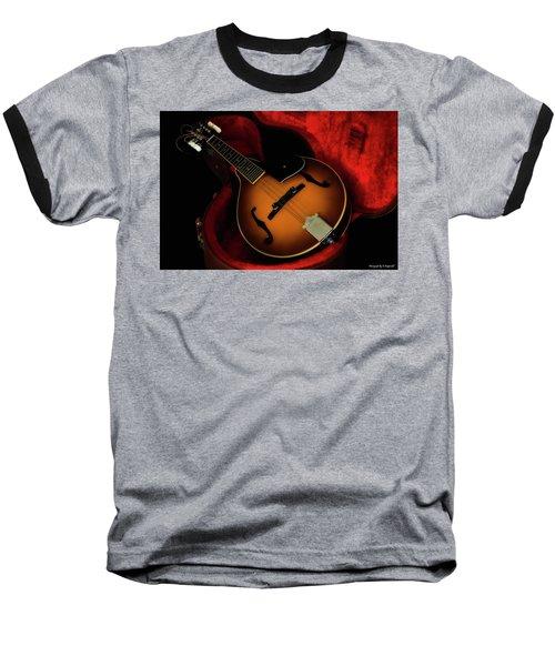 Mandolin Guitar 66661 Baseball T-Shirt by Kevin Chippindall