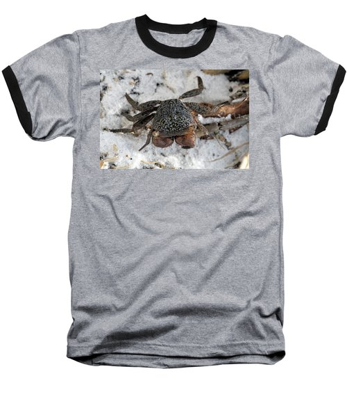 Baseball T-Shirt featuring the photograph Mangrove Tree Crab by Doris Potter