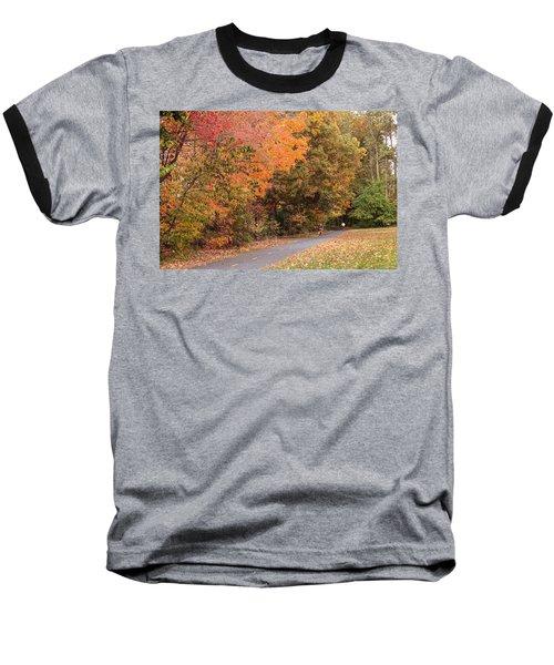 Manhan Rail Trail Fall Colors Baseball T-Shirt