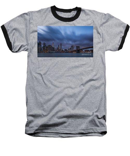 Manhattan And Brooklyn Bridge Baseball T-Shirt