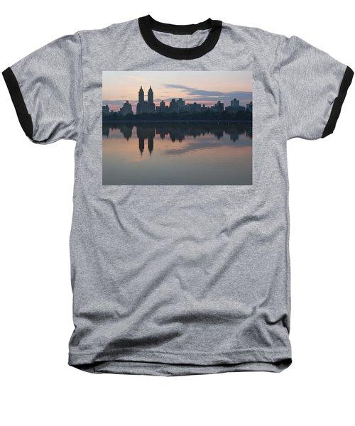 Manhattan At Night  Baseball T-Shirt by Yvonne Wright
