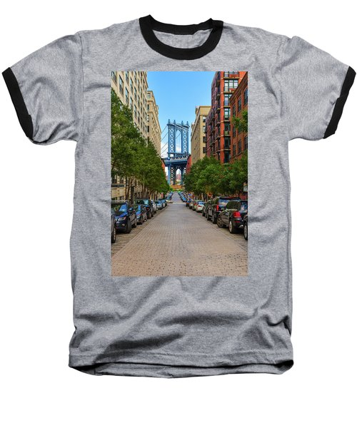Baseball T-Shirt featuring the photograph Manhattan Bridge by Emmanuel Panagiotakis