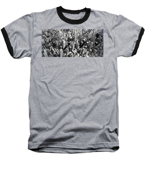 Manhattan  Baseball T-Shirt by Chris Fraser