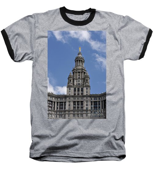 Baseball T-Shirt featuring the photograph Manhattan City Hall by Judy Wolinsky