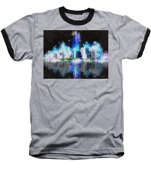 Manhattan Downtown Lights Baseball T-Shirt