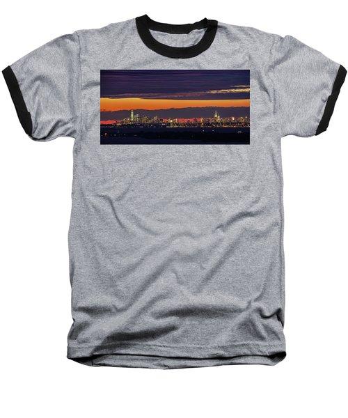 Manhattan Lights Baseball T-Shirt