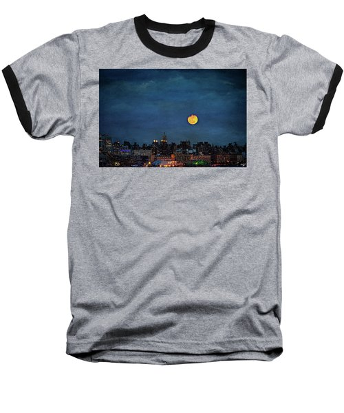 Manhattan Moonrise Baseball T-Shirt