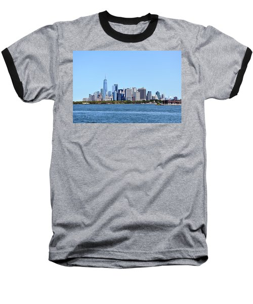 Manhattan Skyline 1 Baseball T-Shirt