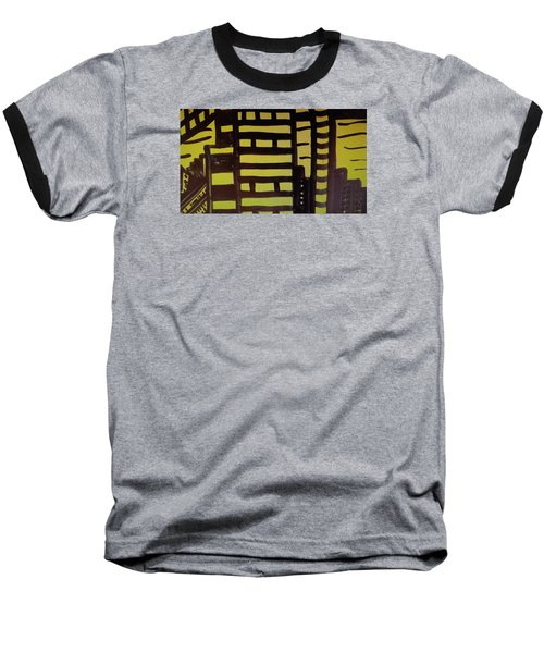 Baseball T-Shirt featuring the painting Manhattan Sunrise 2 by Don Koester